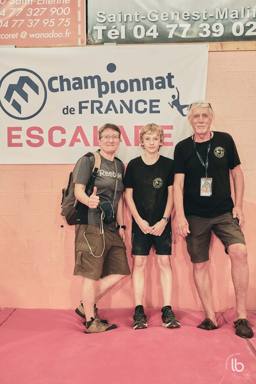 Un meudonais aux championats de france d'escalade avec Agrippine - Laurence Bichon